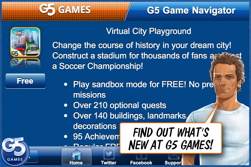 Screenshot Games Navigator – By G5 Games